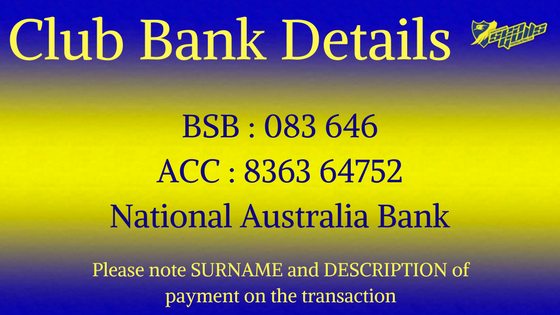 Club Bank Details