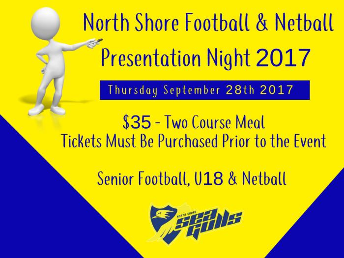North Shore Football & Netball Presentation Night2017
