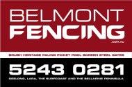 Belmont fencing