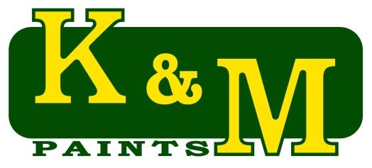 k & m paints LOGO