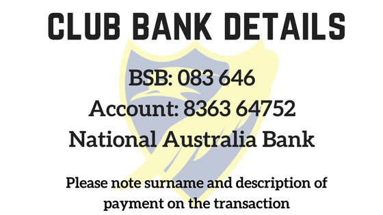 Club Bank Detials